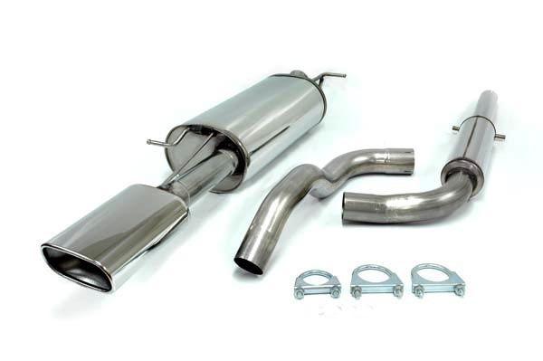 Simons Edelstahlanlage 85x150 mm flach oval für Skoda Octavia Limousine/Kombi 1.8 Turbo RS
