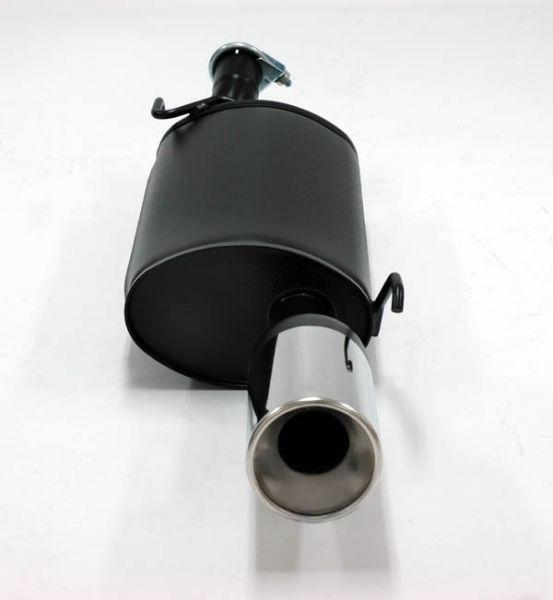 Simons aluminisierter Stahl-Endschalldämpfer 1x100 mm rund für Ford Puma 1.4 16V/ 1.7 16V ab Baujahr