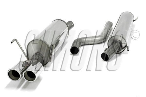 Simons Edelstahl Auspuffanlage 2x80mm rund Opel Astra G Caravan 1.4/1.6/1.8/2.0/2.2 ab Baujahr 98