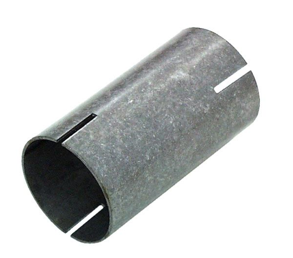 Stahl Hülse beidseitig geschlitzt Länge 100mm