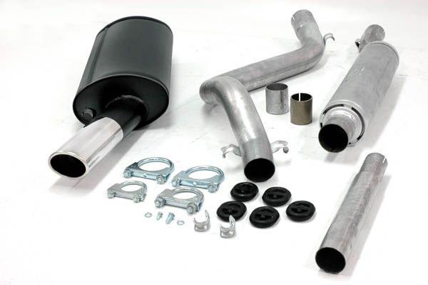 Simons aluminisierte Stahl Auspuffanlage 1x70/90 mm oval für VW Scirocco I Baujahr 74-83