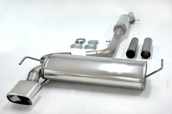 Simons Edelstahlanlage 85x150 mm flach oval für Seat Leon 1.8i Turbo Quattro Baujahr 99-05