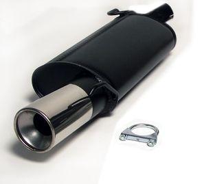 Simons aluminierter Stahl-Endschalldämpfer 1x100 mm rund für Ford Fiesta 1.25 16V/1.3 ab Baujahr 96