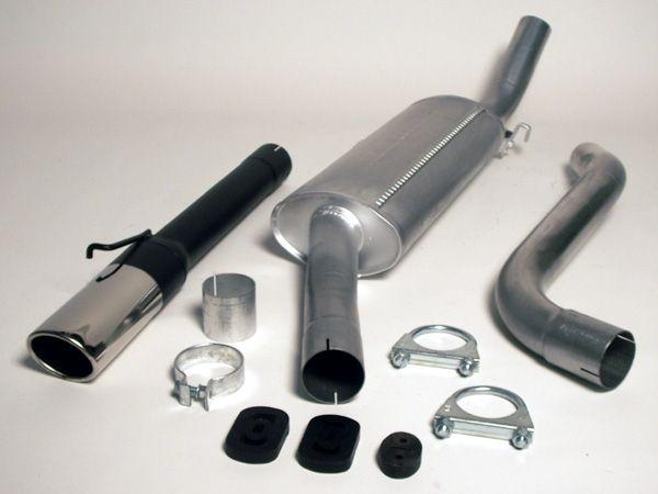Simons aluminisierte Stahl Auspuffanlage 1x70/90 oval Saab 900 Turbo Baujahr 87-93