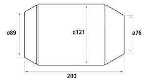 HJS Universalkatalysator 200CPSI Ø76.0mm