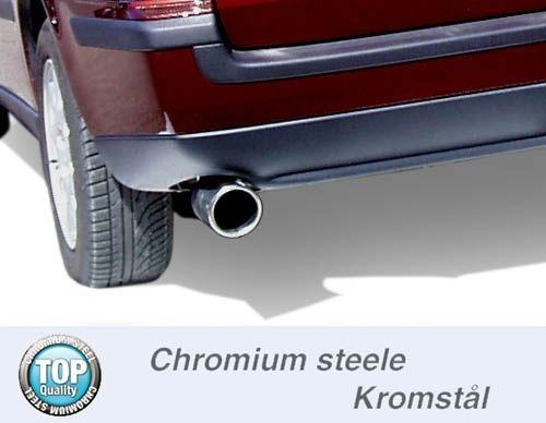 Simons Chromstahl Auspuffanlage 1x90mm rund Volvo V70N 2WD 2.4 140PS-170PS Baujahr 01-
