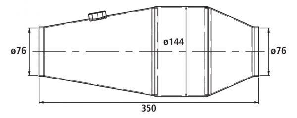 HJS PE - Universalkatalysator 100CPSI Ø 144mm
