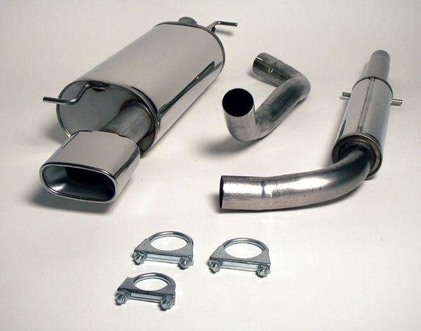 Simons Edelstahlanlage 85x150 mm flach oval für Seat Leon 1.8i Turbo Baujahr 99-05