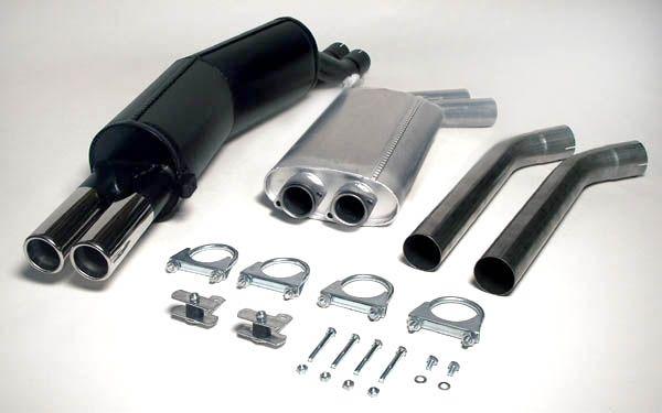 Simons Stahlanlage 2x70 mm rund für BMW E34 Limousine/Touring 525i 24V/141 kW und 530i/535