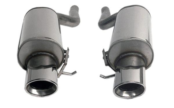 Simons Duplex Edelstahl Endschalldämpfer 2x90x120 mm oval für Audi A6 (C5) Quattro 1.8T/2.4/2.5TDi/
