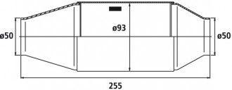 HJS Universalkatalysator 200CPSI Ø 50.0 mm