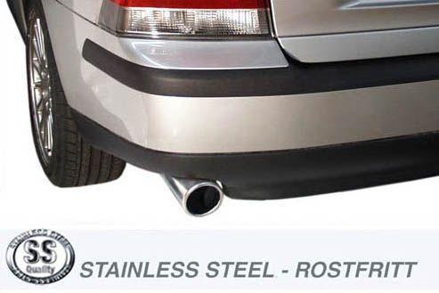 Simons Edelstahl Auspuffanlage 1x100 mm rund für Volvo S60 Turbo 4WD 2.4/2.5T Baujahr 01-