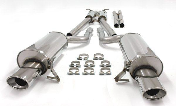 Simons Duplex Edelstahl Auspuffanlage 2x90x120 mm oval für Audi A6 (C5) Quattro 2.4/2.8 Baujahr 97-0