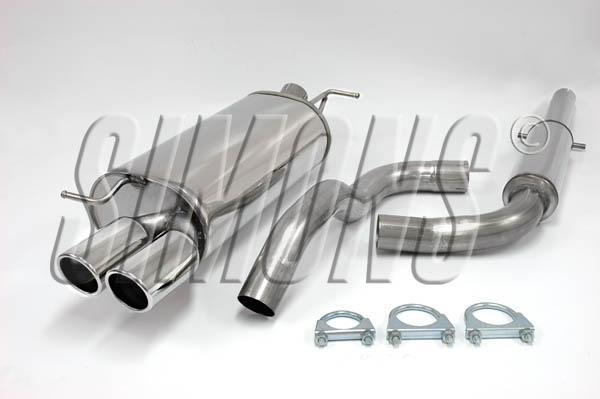 simons stainlesssteel exhaustsystem 2x80 mm round audi a3 ( 8l )1.6