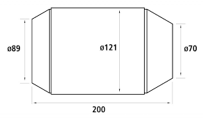 HJS Universalkatalysator 200CPSI Ø70mm