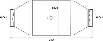 HJS Universalkatalysator 200CPSI Ø55.5mm