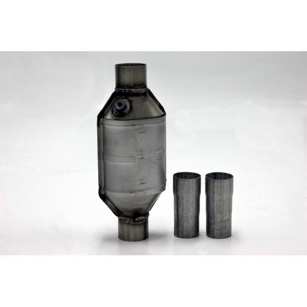 Standard Keramik Katalysator mit Muffe zum einschweißen+2 seperaten Adapterhülsen Ø45mm-63,5mm