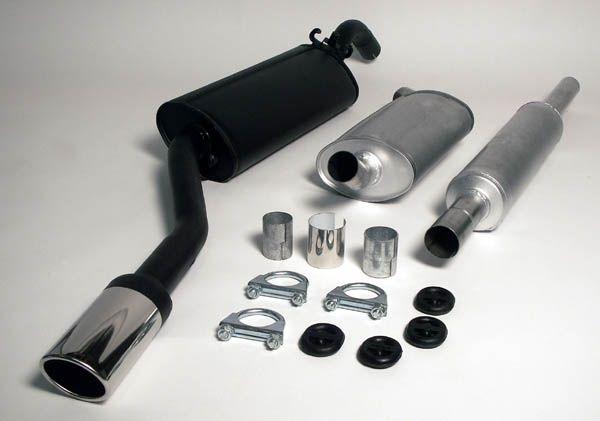 Simons aluminisierte Stahl Auspuffanlage 70/90 mm oval für VW Jetta 1.3/1.6/1.8 8V Baujahr 2/84-91