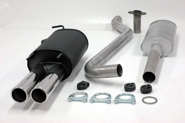 Simons Stahlanlage 2x80 mm rund für Toyota Corolla Typ E10 Limousine/Liftback/Kombi 1.6 Baujahr 5/95