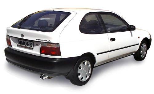 Simons Stahlanlage 1x90 mm rund für Toyota Corolla Typ E10 Fließheck 1.3 65 kw Baujahr 5/92-7/95