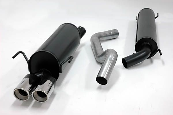 Simons aluminisierte Stahl Auspuffanlage 2x80mm rund Opel Zafira A /1.6/1.8/2.0/2.2 Baujahr 98-05