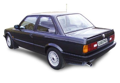 Simons Stahlanlage 1x80 mm rund für BMW E30 318iS Motor M42 1.8 16V Baujahr 9/89-91