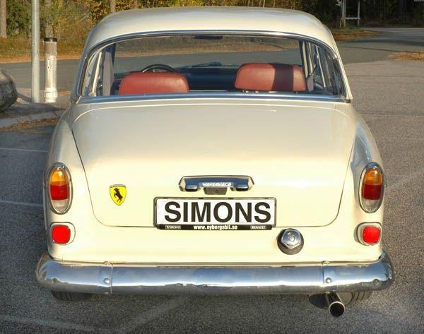 Simons aluminisierte Stahl Auspuffanlage 1x70x90 mm oval Volvo Amazon Baujahr 67-70 mit Doppel-Loch