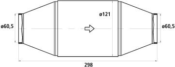 HJS Universalkatalysator 200CPSI Ø60.5mm