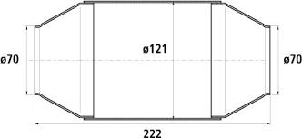 HJS HD Universalkatalysator 200CPSI Ø70.0mm