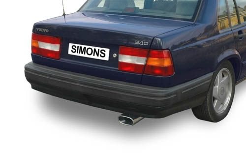 Simons aluminized Steel Exhaustsystem 1x85/150mm oval Volvo 940 Turbo Saloon/Estate Model 91-