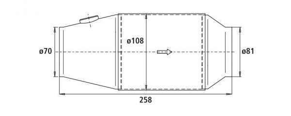 HJS PE - Universalkatalysator 100CPSI Ø 108mm