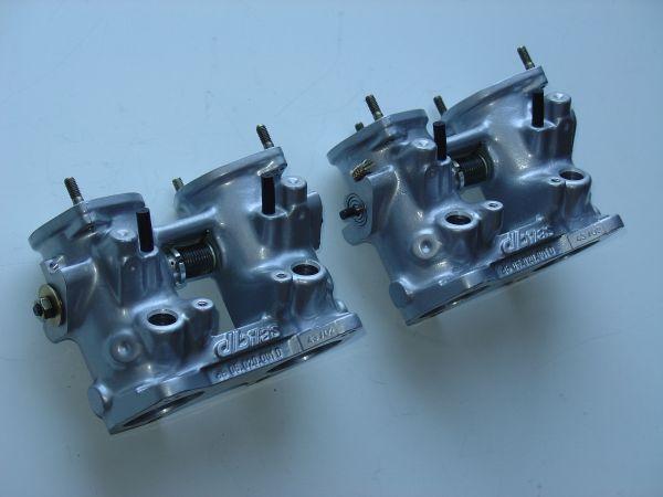 Drosselklappenteil Ø 45 mm / L 110 mm mit Flansch, mit Bohrungen