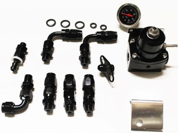 Benzindruckregler Racing universal schwarz