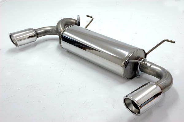 Simons Duplex Edelstahl Endschalldämpfer 1x100mm Mazda MX5 (Miata) Typ NB 1.6 /1.8 Baujahr 98-05