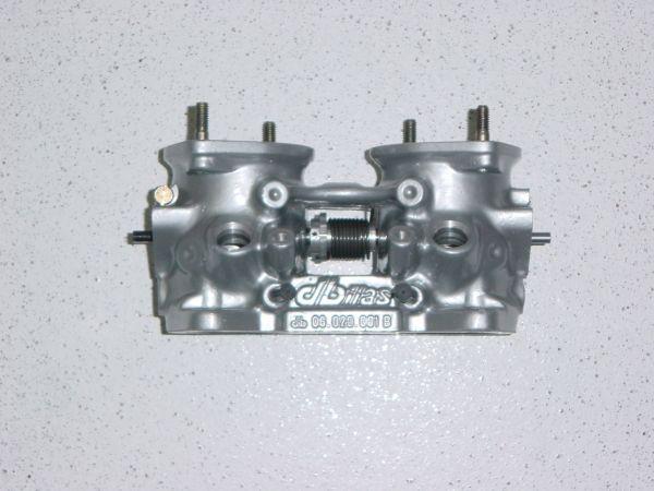 Drosselklappenteil Ø 45 mm / L 80 mm mit Flansch, mit Bohrungen