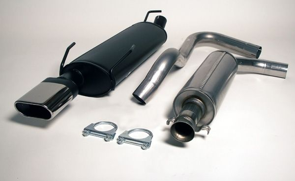 Simons Chromsteel Exhaustsystem 1x70/140mm oval Saab 9-3 Aero Version I Model 2000