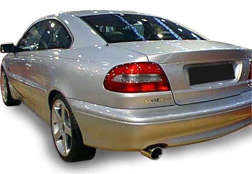 Simons aluminized Steel Exhaustsystem 1x100mm round Volvo C70 Turbo Coupe/Cabrio Model 96-05